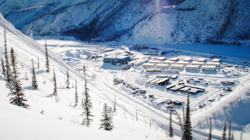 A 2006 view of the Prairie Creek mine site - Canadian Zinc Corporation