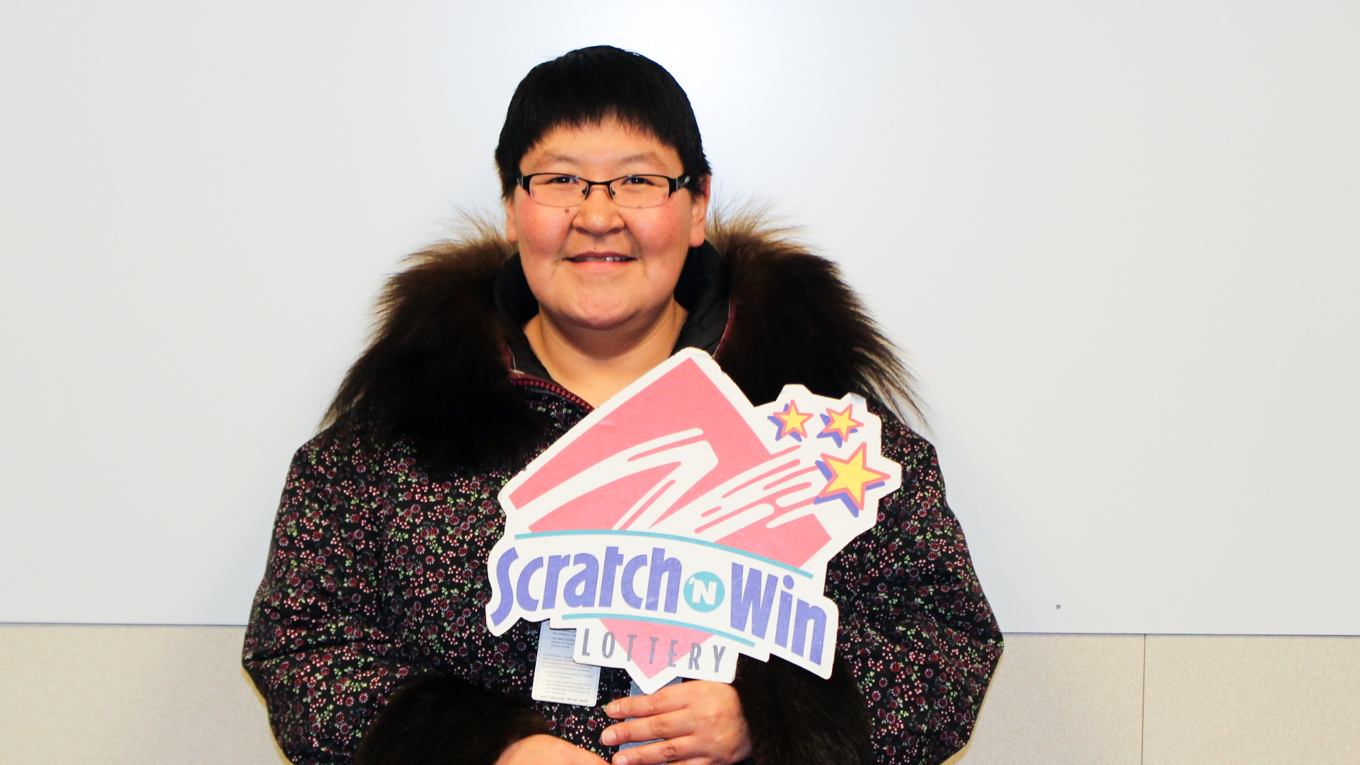 Delma Klengenberg is pictured celebrating her lottery win in a photo issued by the Western Canada Lottery Corporation.