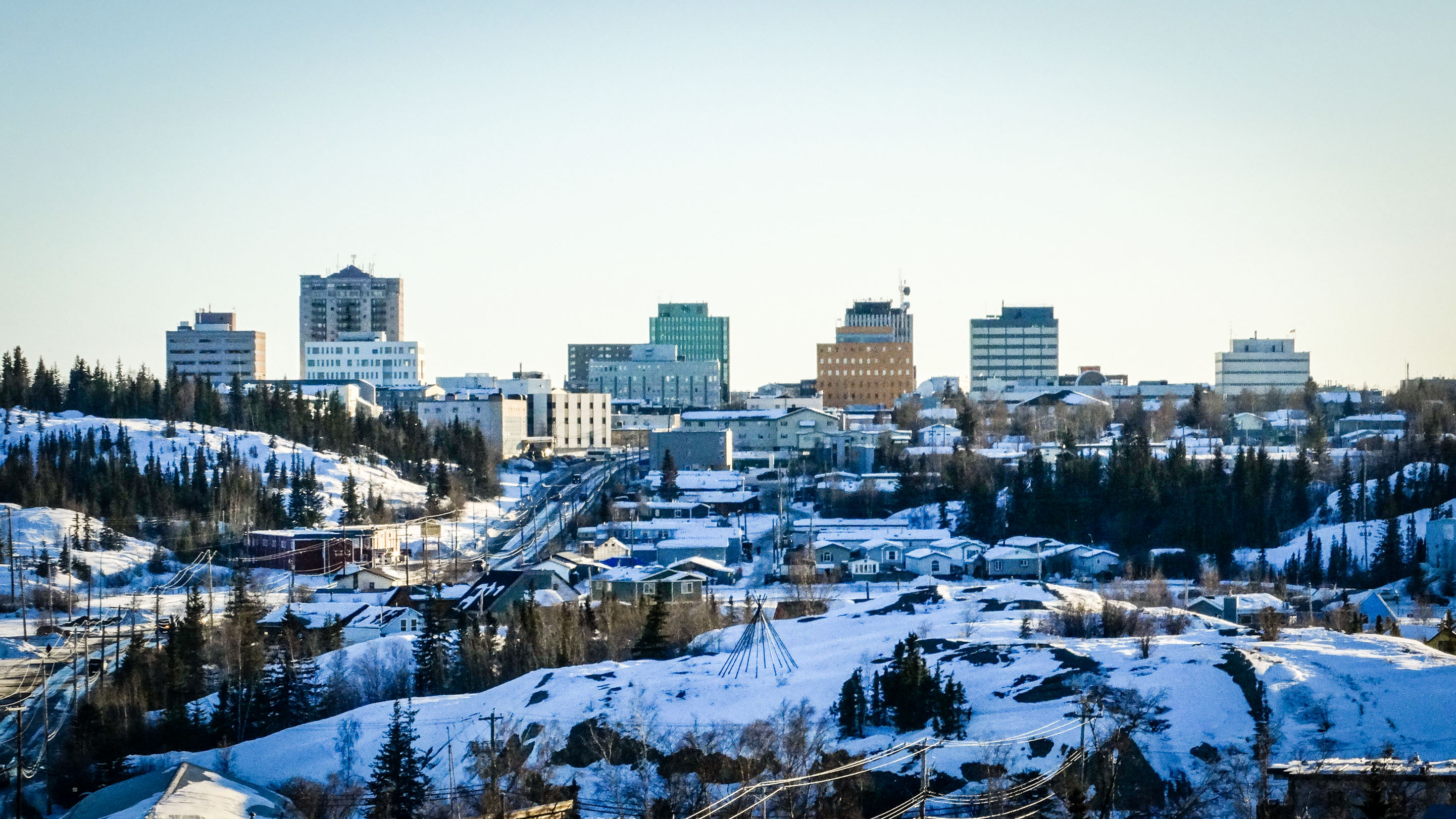 A view of downtown Yellowknife from Pilot's Monument
