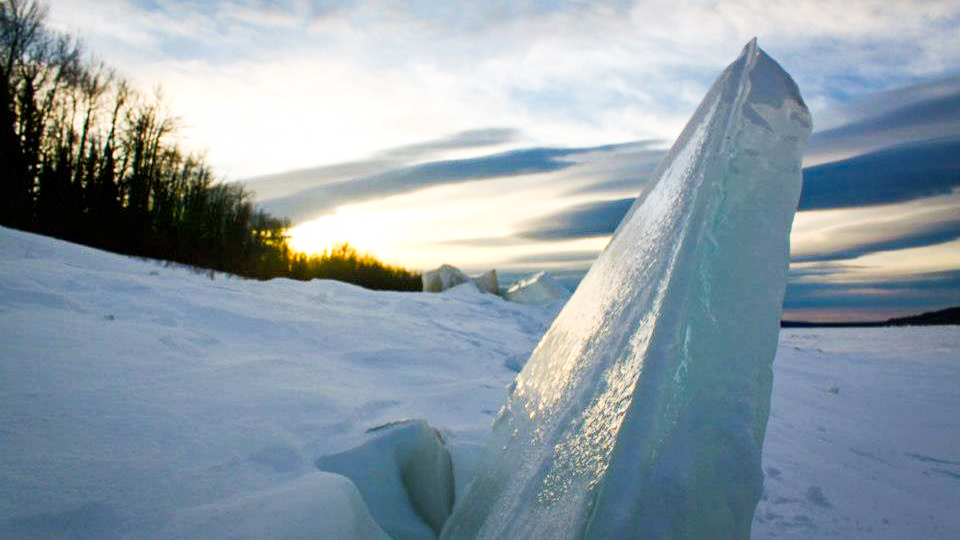 A file photo of ice blocks on the Liard River in the Northwest Territories
