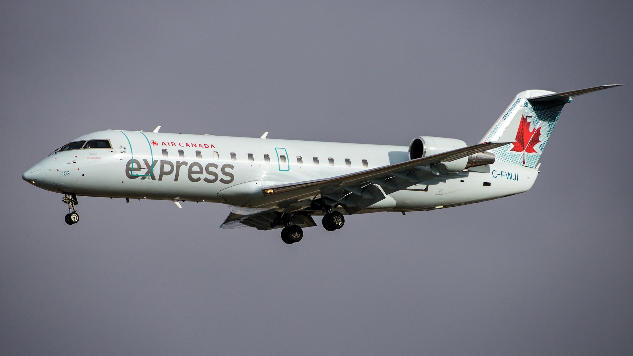 An Air Canada Express flight operated by Air Georgian - BriYYZ-Flickr