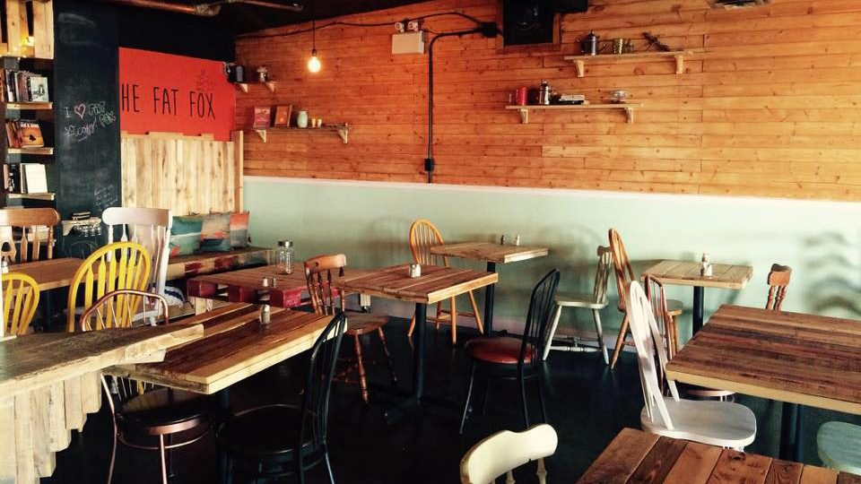 The Fat Fox cafe's interior is pictured in an image from the restaurant's Facebook page