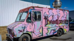Robin Wasicuna's new food truck makes an appearance at the 2018 Yellowknife Spring Trade Show