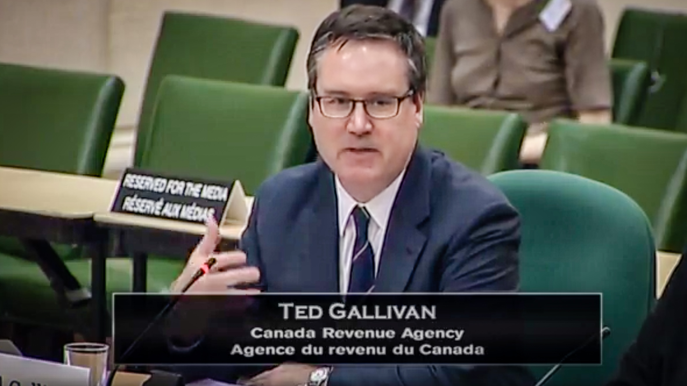 Ted Gallivan, the CRA's assistant commissioner, is pictured in a still from a webcast in May 2018
