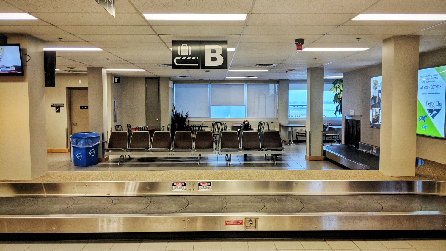 A baggage carousel in Yellowknife Airport on January 5, 2018
