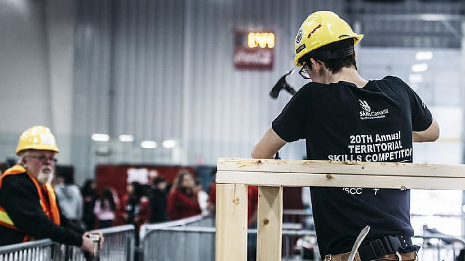 A competitor at the 2018 Skills Canada NWT territorial skills competition
