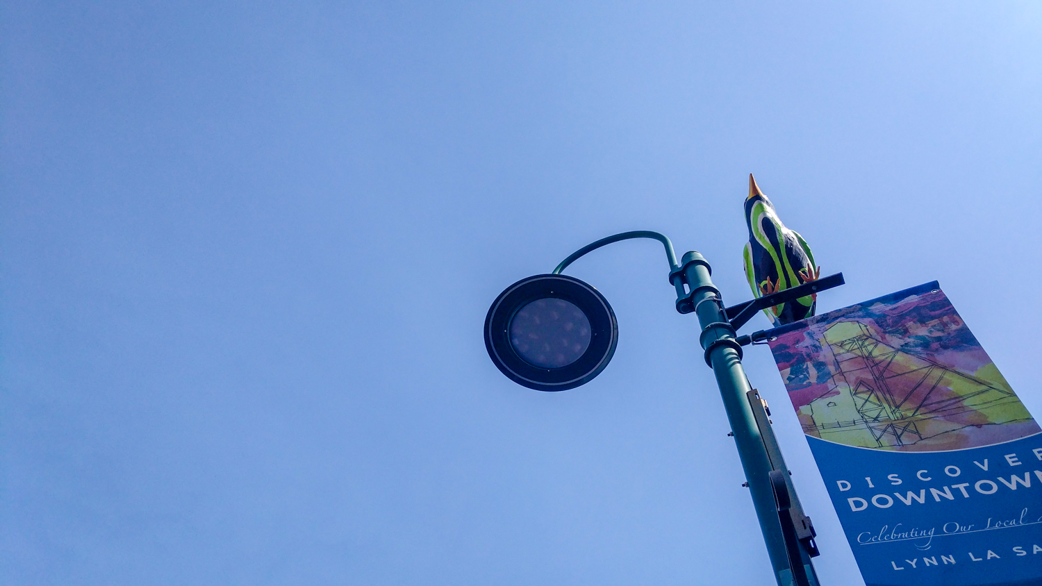 A lamppost in the City of Yellowknife