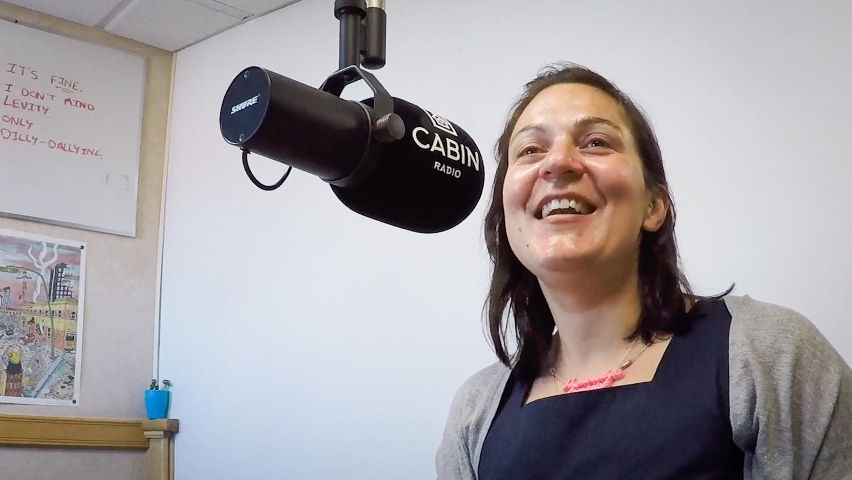Brie O'Keefe in Cabin Radio Studio 1