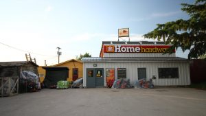 A file photo of Home Hardware in Fort Smith in June 2018. Sarah Pruys/Cabin Radio