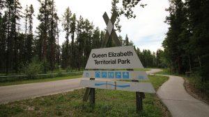Queen Elizabeth Territorial Campground in June 2018. Sarah Pruys/Cabin Radio