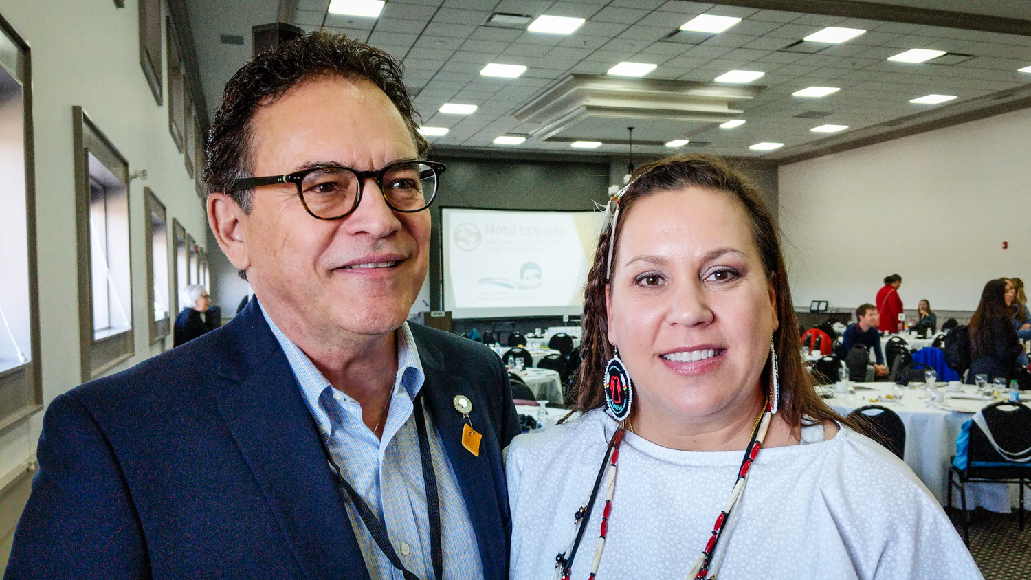 Larry Bremner and Nicole Bowman appear at the Canadian Evaluation Society's 2018 symposium in Yellowknife