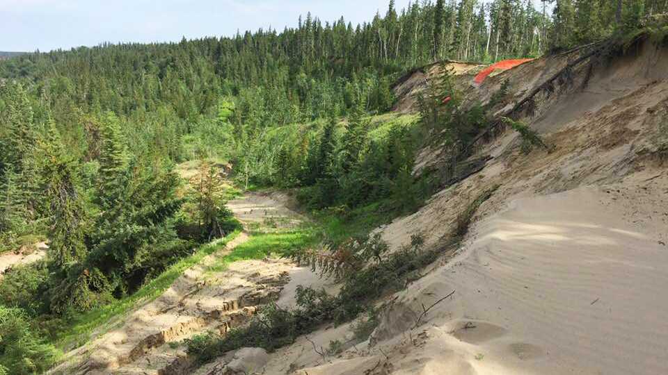 "A ""truicide"" landslide photo shared on Facebook earlier this evening. Patti-Kay Hamilton/Facebook"