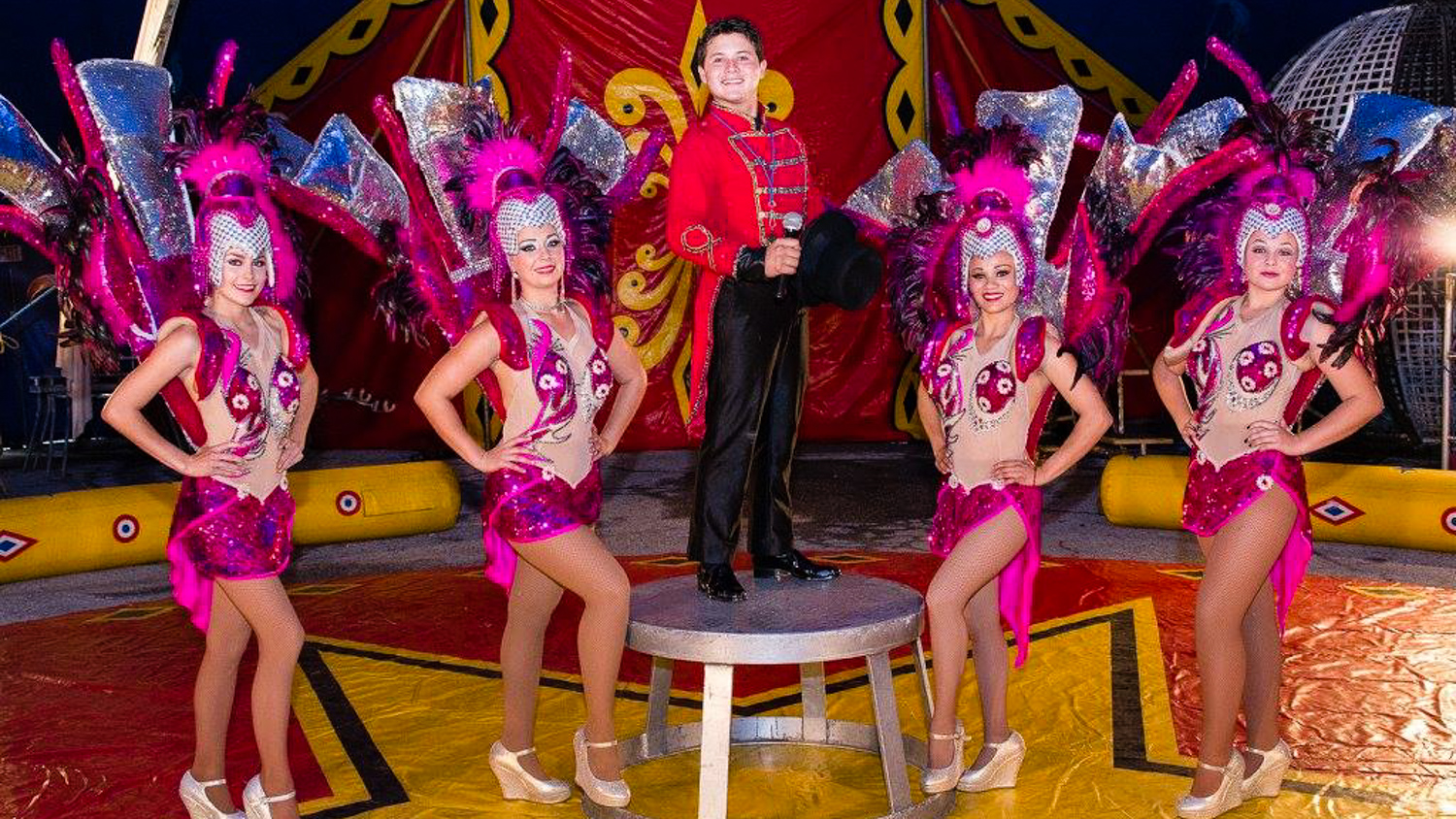 A file photo of performers with The Great Benjamin's Circus