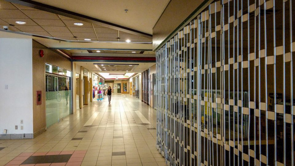 The interior of Yellowknife's upper Centre Square Mall