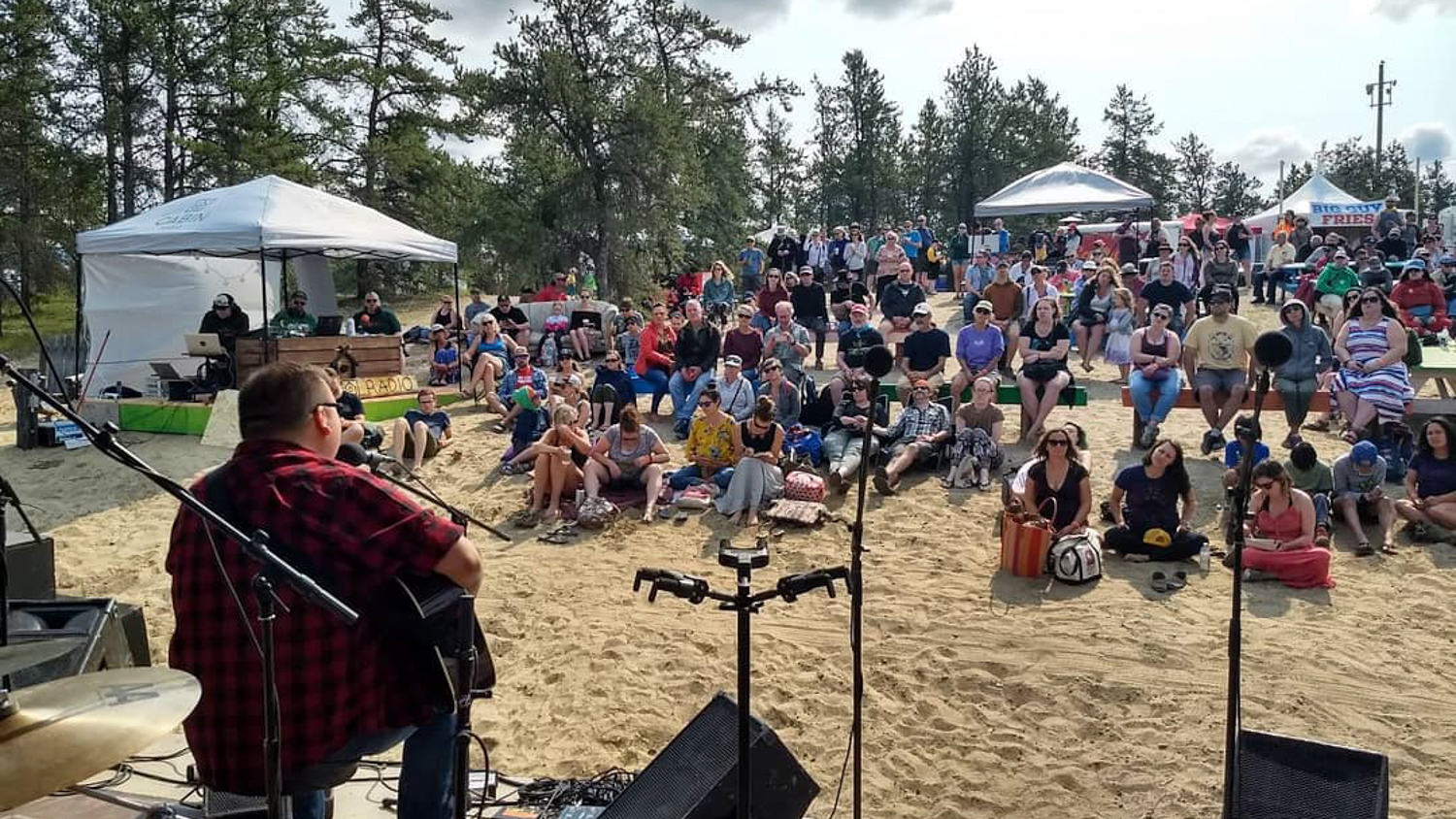 William Prince plays the Cabin Stage at Folk on the Rocks 2018