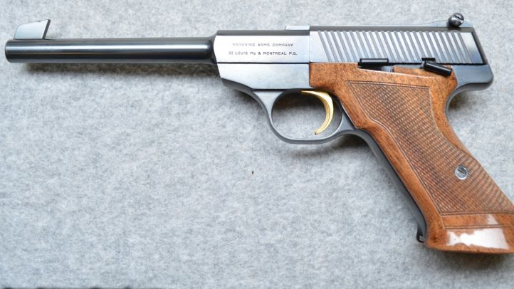 A Browning Challenger handgun, similar to that reported missing in Fort Smith. Guns International photo.