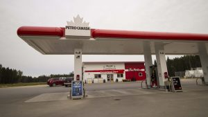 A file photo of Fort Smith's Petro-Canada gas station. Sarah Pruys/Cabin Radio