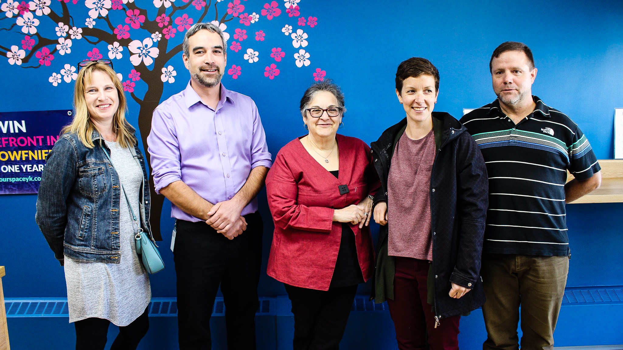 Win Your Space 2018 finalists appear with Mayor Mark Heyck in an image posted to Twitter by the City of Yellowknife
