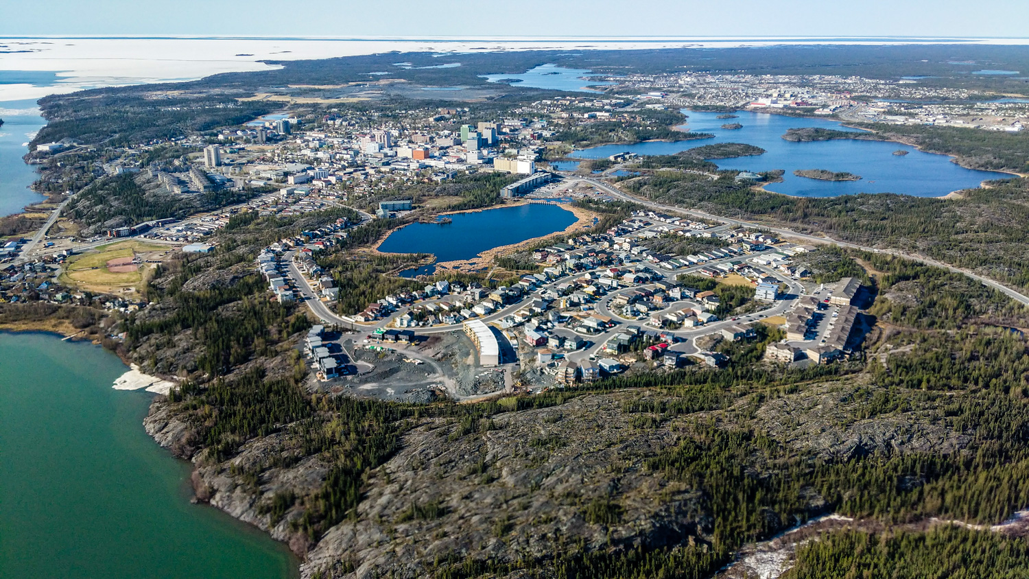 A file photo of Yellowknife in May 2018