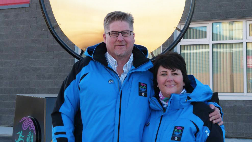 Brad Mapes at the Arctic Winter Games. Hay River Mayor Brad Mapes/Facebook.