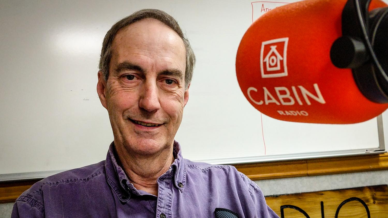 Terry Testart in Cabin Radio's Studio Two in September 2018