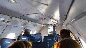 A file photo taken on a Northwestern Air Lease flight in November 2018. Sarah Pruys/Cabin Radio