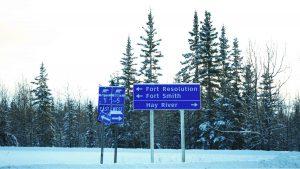 A file photo of Highway 5 November 2018. Sarah Pruys/Cabin Radio
