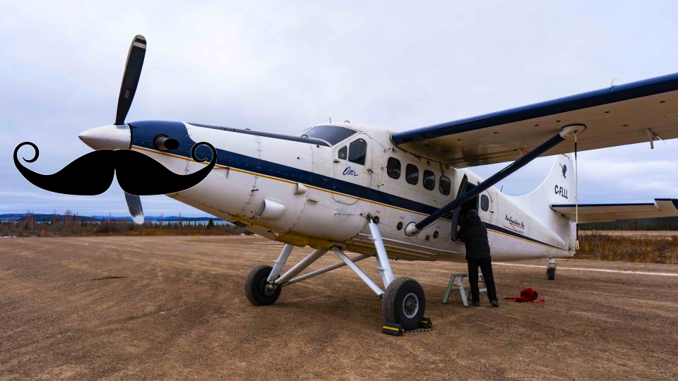 Northwestern Air Lease's Turbo Otter with a moustache, courtesy of Cabin Radio. Sarah Pruys/Cabin Radio