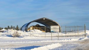 A file photo of a highway maintenance facility in December 2018. Sarah Pruys/Cabin Radio