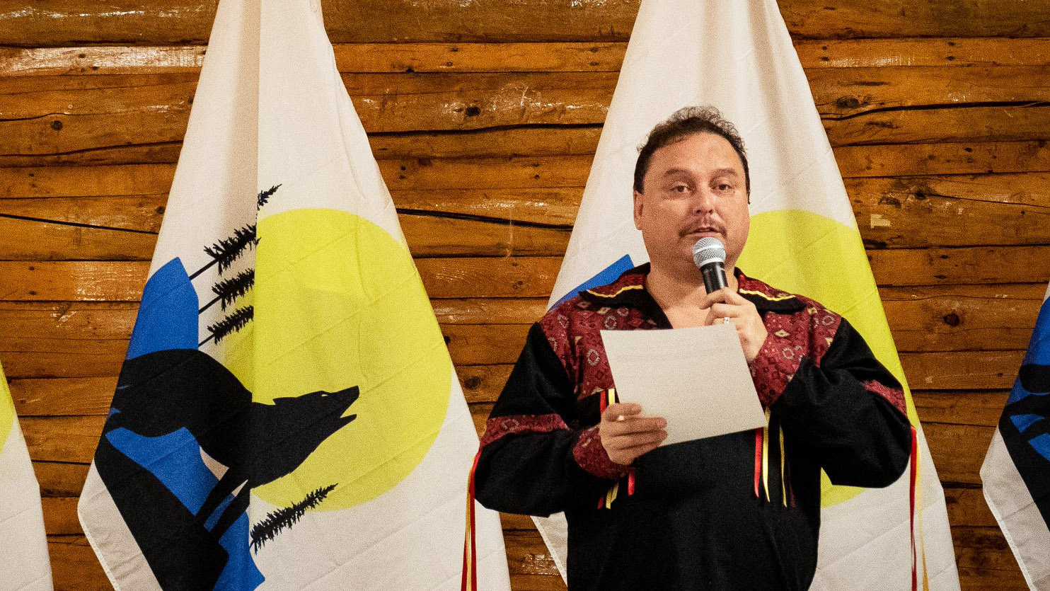 A photo of Garry Bailey at the Northwest Territory Métis Nation assembly November 2018. Northwest Territory Métis Nation/Facebook