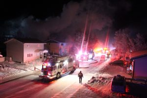 Firefighters respond to a call on Yellowknife's 51A Avenue in December 2018 in this submitted photo.