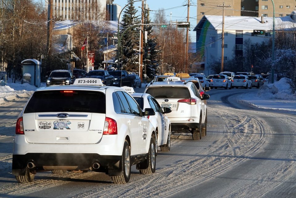 Taxi cabs parade through Yellowknife in memory of Ahmed Mohamud Ali