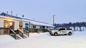 A file photo of the Big River Service Centre in Fort Providence in January 2019. Sarah Pruys/Cabin Radio