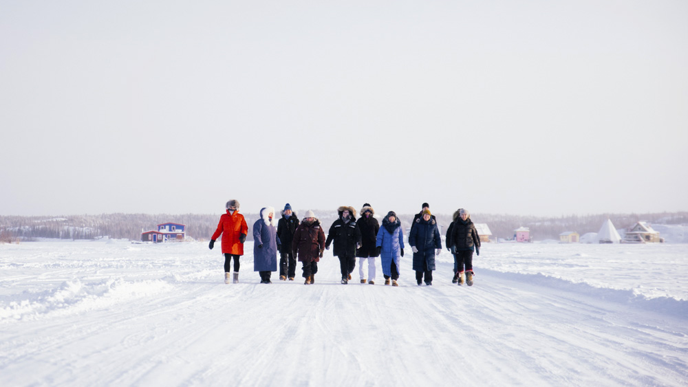 """A team """"walks to Tuk"""" in this NWTPRA submitted photo."""