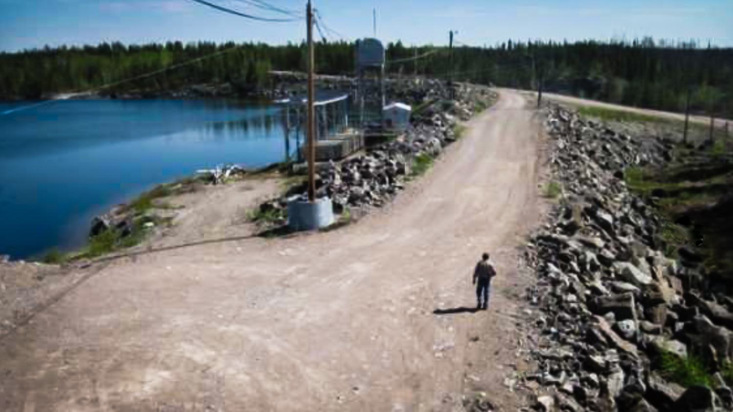 A view of the Taltson hydro system's Twin Gorges dam taken by inspectors contracted to the NWT Power Corporation in May 2018