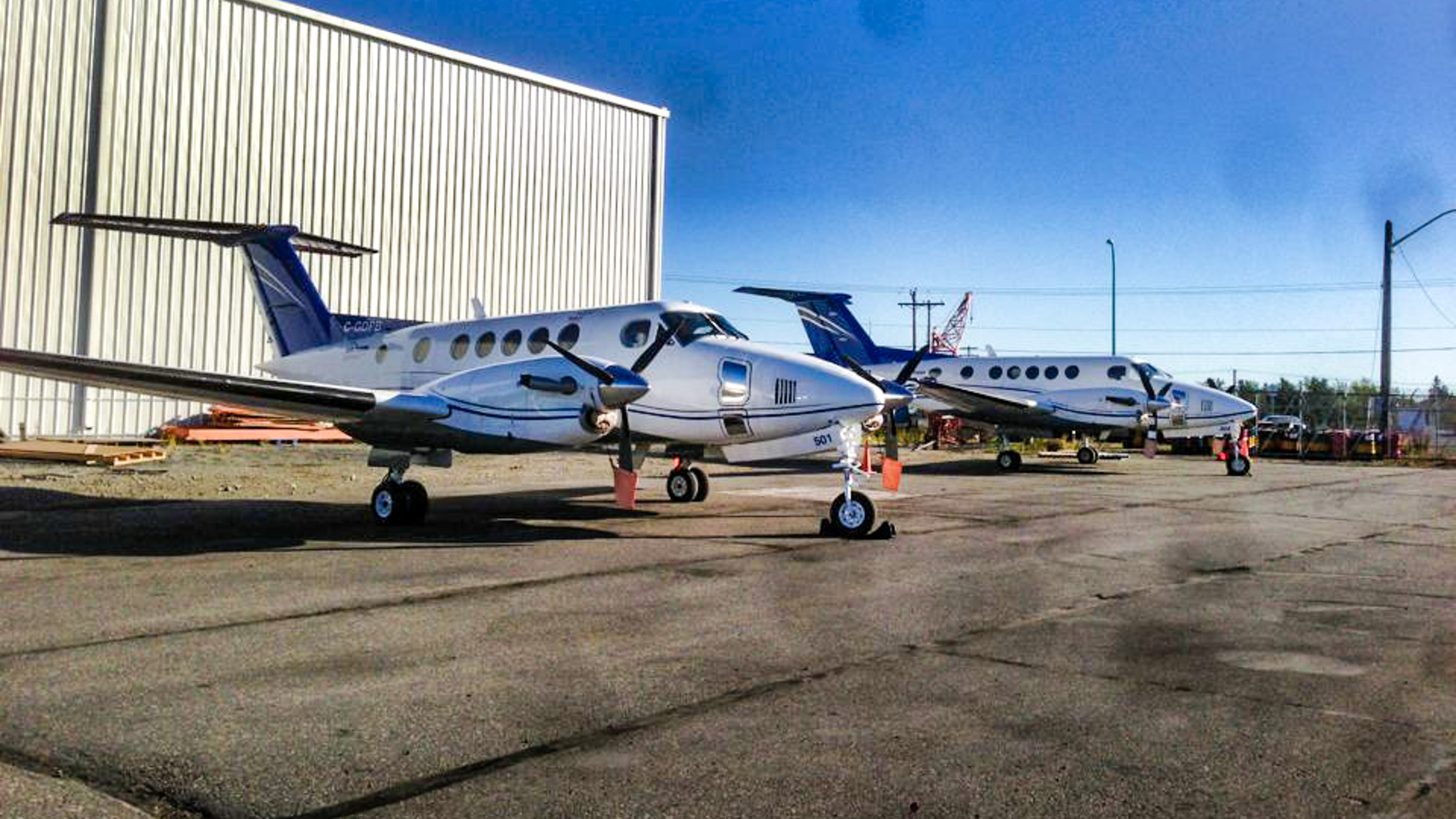 Air Tindi King Air 200 aircraft pictured on the tarmac in a 2013 post to the airline's Facebook page