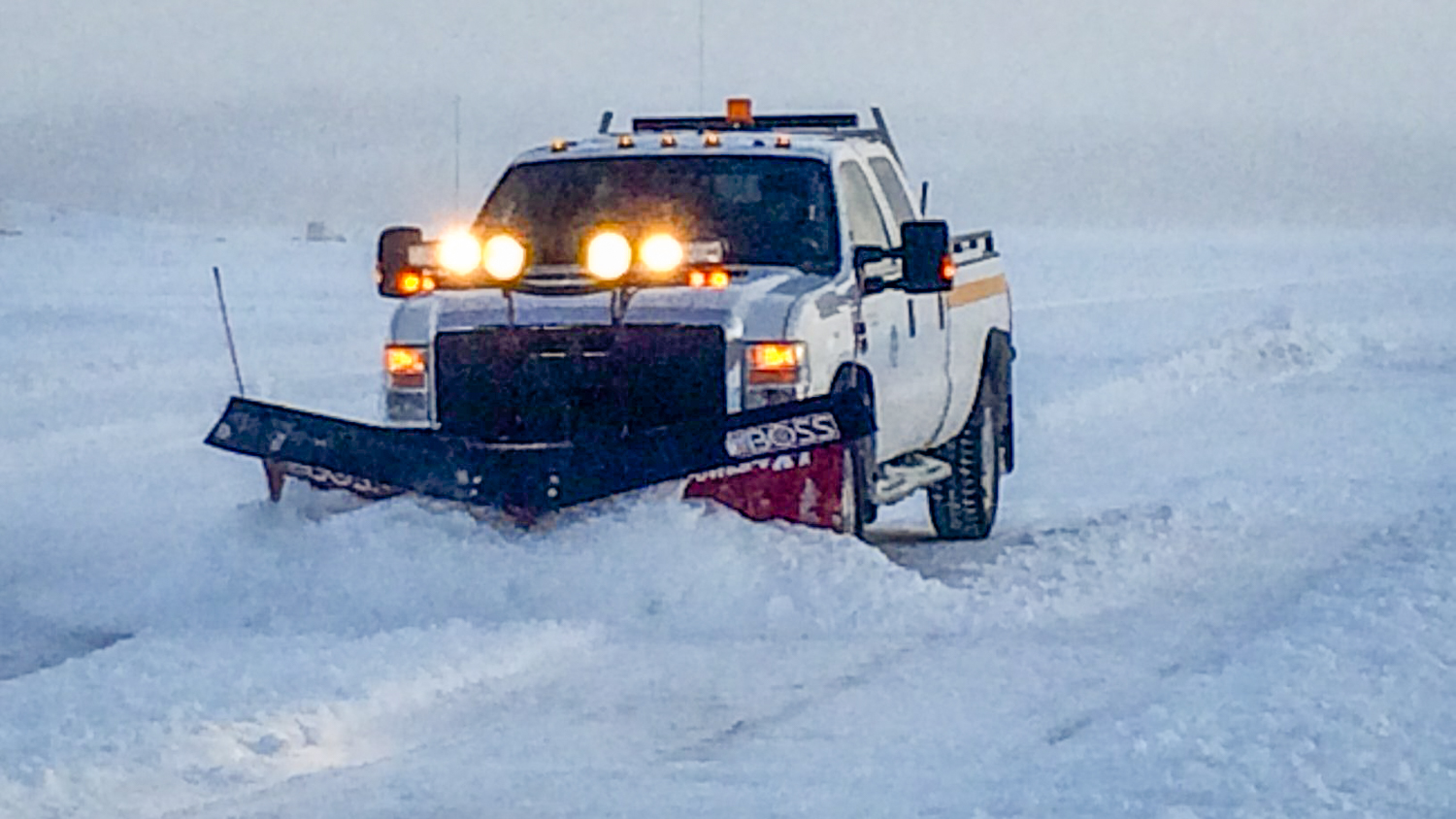 The Yellowknife-Dettah ice road is prepped in an image released by the territorial government