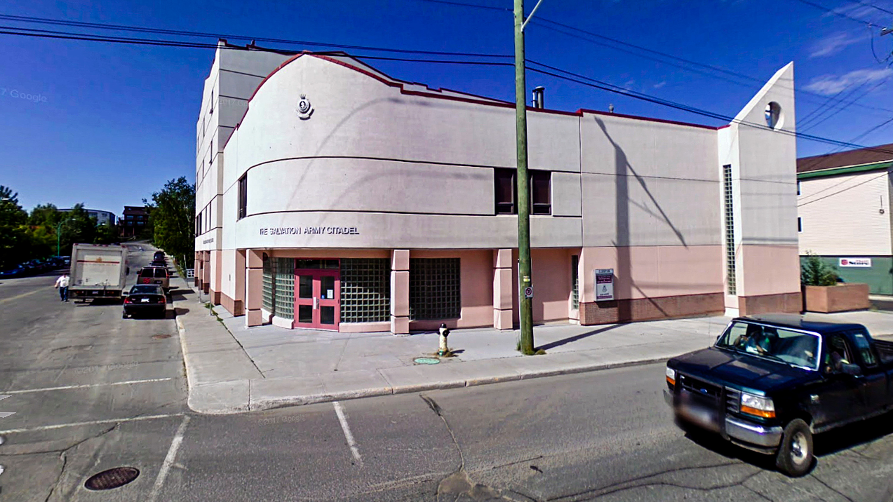 A Google Streetview images shows Yellowknife's Salvation Army building, which previously served as the sobering centre's temporary home