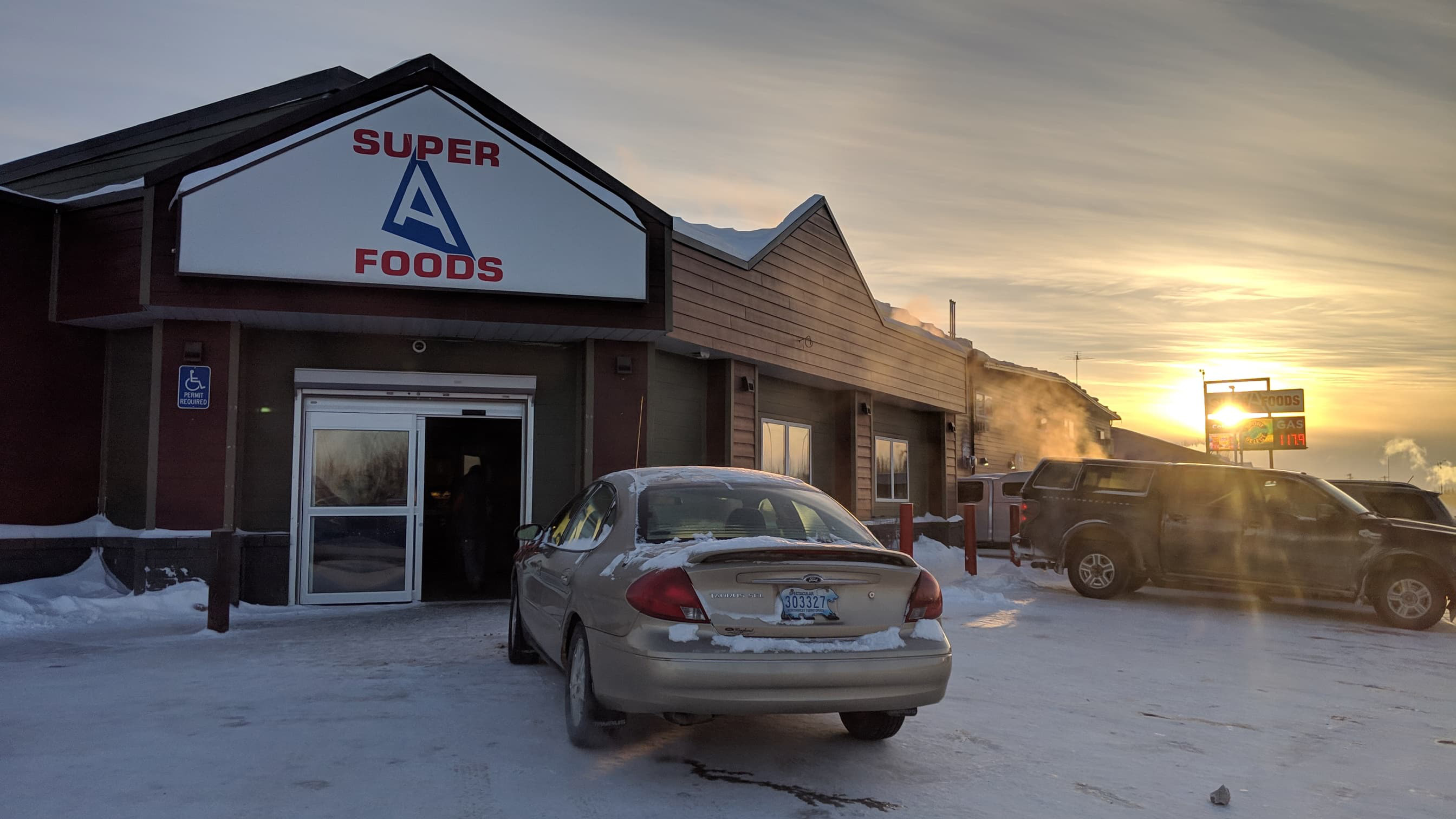 A file photo of Super A Foods in Hay River in February 2019. Sarah Pruys/Cabin Radio