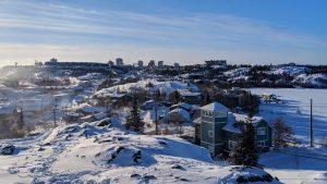 A file photo of Yellowknife in February 2019. Sarah Pruys/Cabin Radio