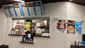 A file photo of the Hay River Arena canteen in February 2019. Sarah Pruys/Cabin Radio