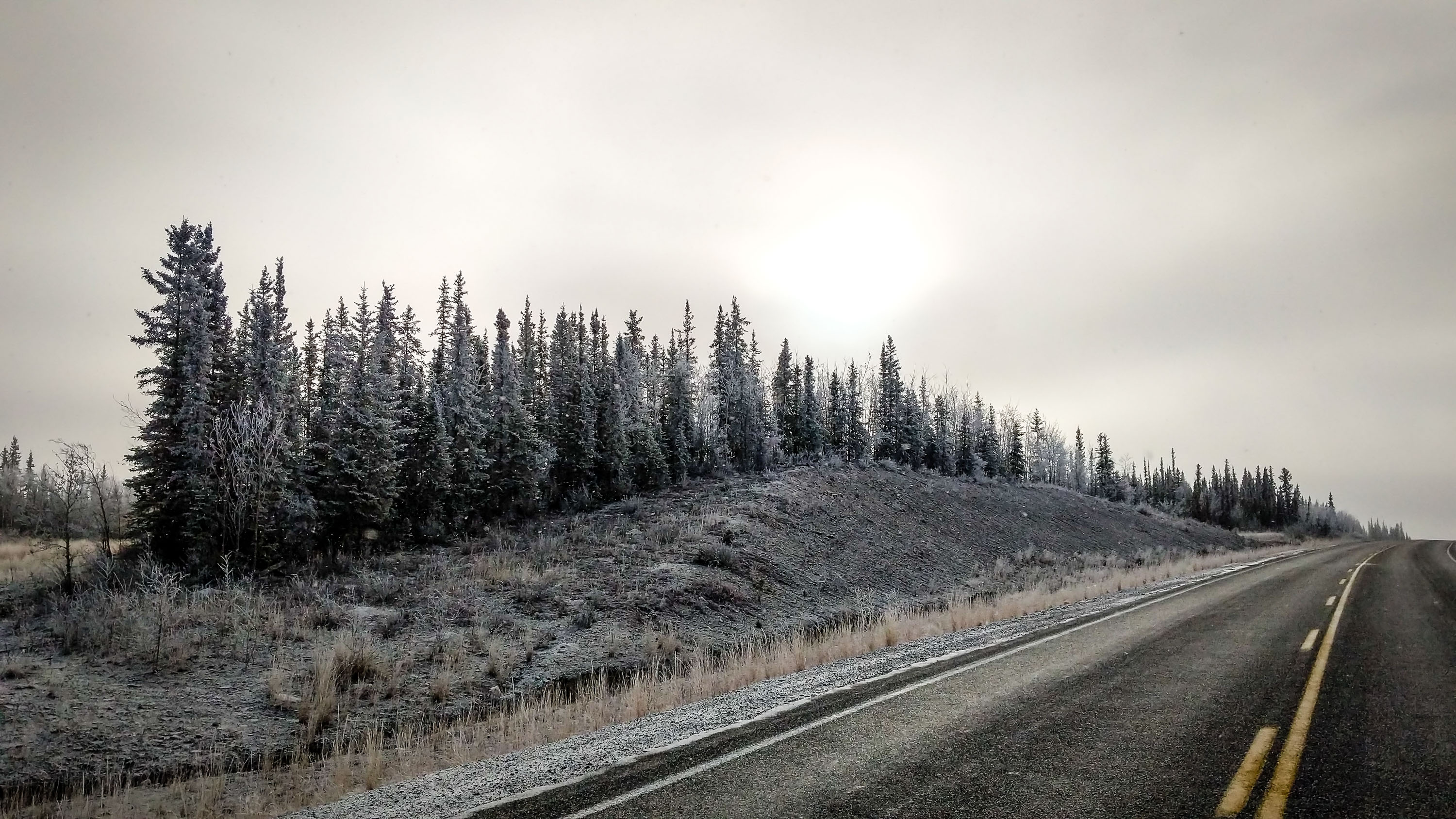 A file photo of a stretch of Highway 3