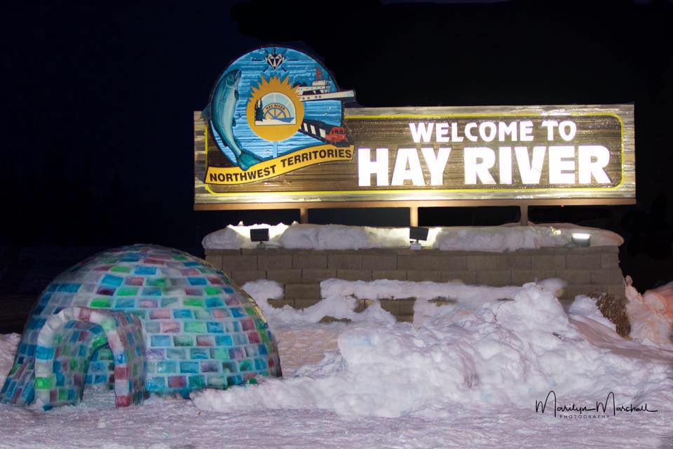 A photo of the Hay River milk carton igloo in March 2018. Marilyn Marshall Photography