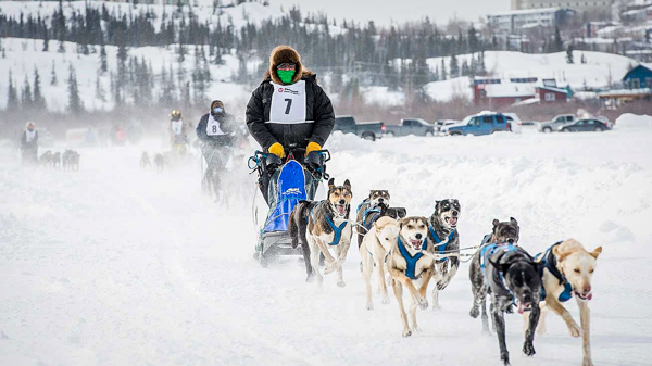 Mushers taking part in the 2018 Canadian Championship Dog Derby