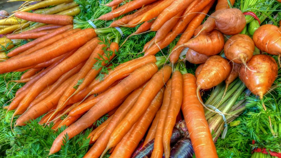 A photo of carrots at the Yellowknife Farmers' Market posted to the event's Facebook page