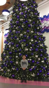 A submitted photo of Salt River First Nation's artificial Christmas tree.