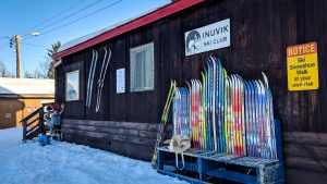 Inuvik's ski club is seen during the 2018 Top of the World Loppet
