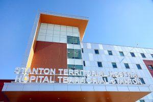 A file photo of Stanton Territorial Hospital taken in April 2019. James O'Connor/Cabin Radio