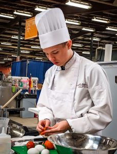 A competitor at Skills Canada Nationals in Halifax