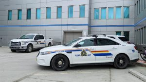 A file photo of RCMP vehicles outside the Yellowknife detachment
